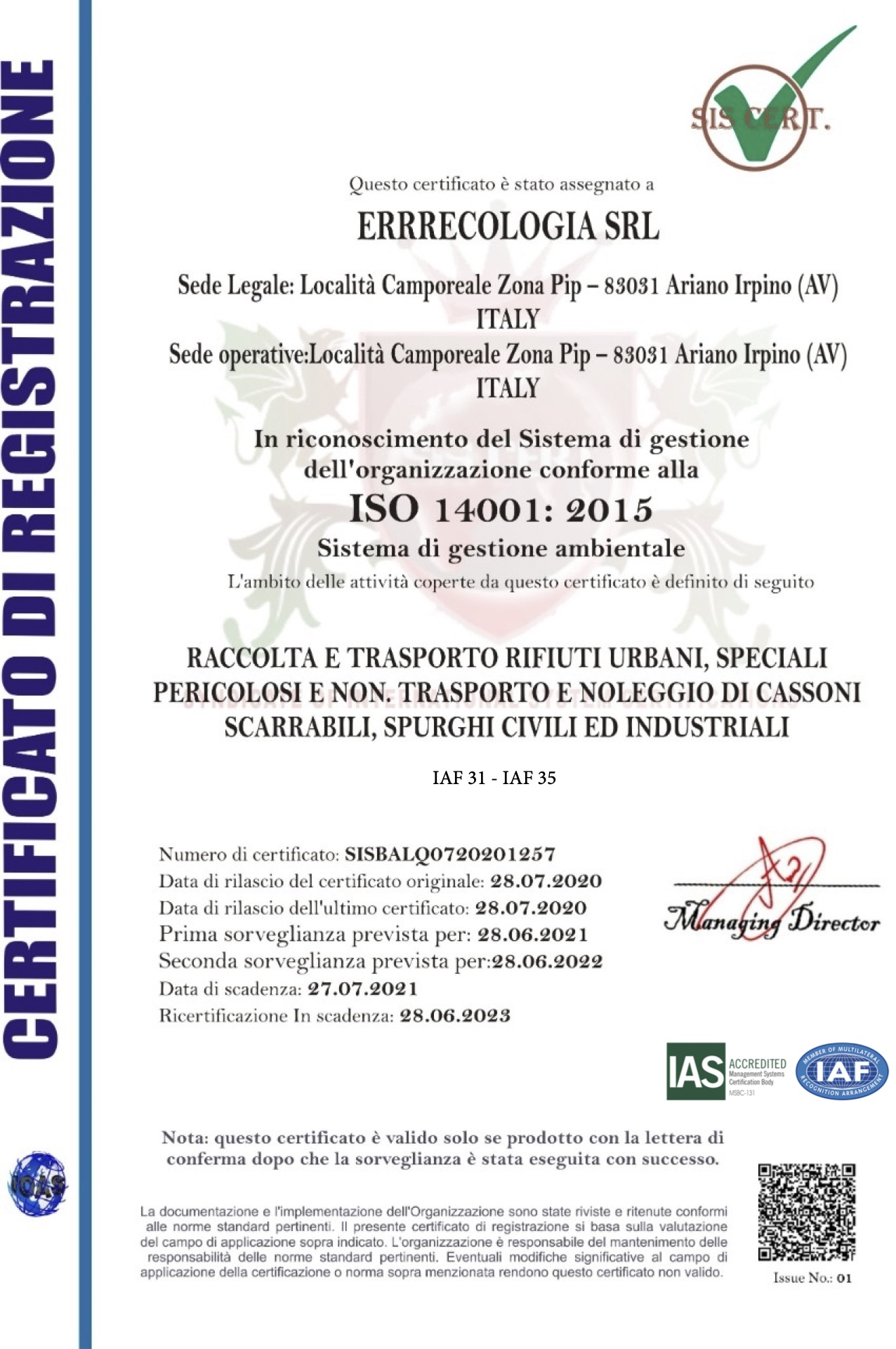 ISO 14001:2015 - Errecologia
